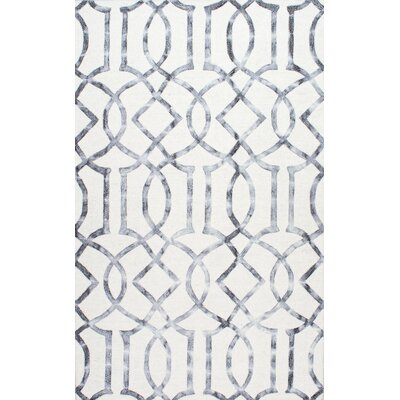 Shores Hand-Tufted Silver Area Rug Rug Size: 76 x 96