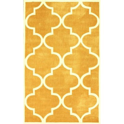 Bodmin Mustard Area Rug Rug Size: Round 8