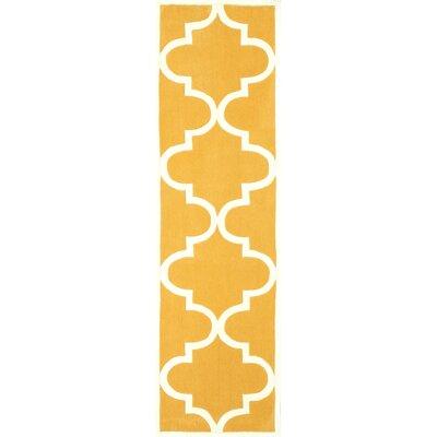 Bodmin Mustard Area Rug Rug Size: Runner 26 x 10