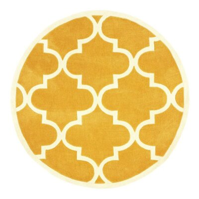 Bodmin Mustard Area Rug Rug Size: Round 6