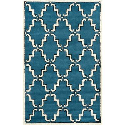 Bornival Blue Rug Rug Size: 76 x 96
