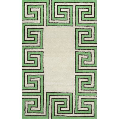 Bornival Green Rug Rug Size: 5 x 8