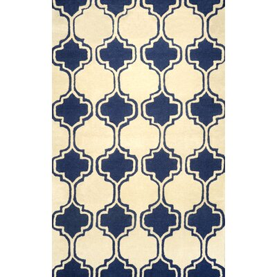 Bornival Navy Area Rug Rug Size: Rectangle 76 x 96