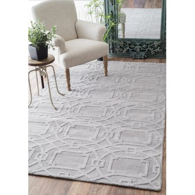 Cherelle Hand-Tufted Gray Area Rug Rug Size: Runner 26 x 8