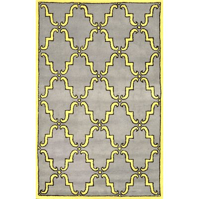 Bornival Yellow Rug Rug Size: Rectangle 76 x 96