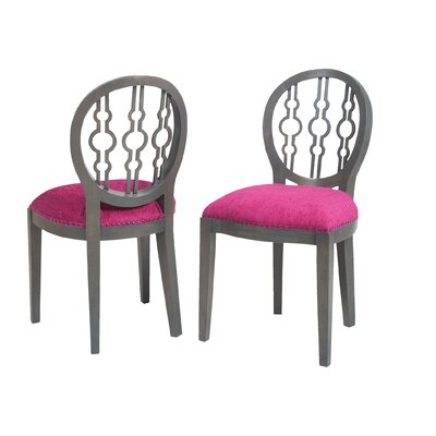 Hackney Side Chair Upholstery Color: Cerise