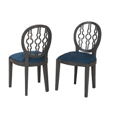 Hackney Side Chair Upholstery Color: Navy