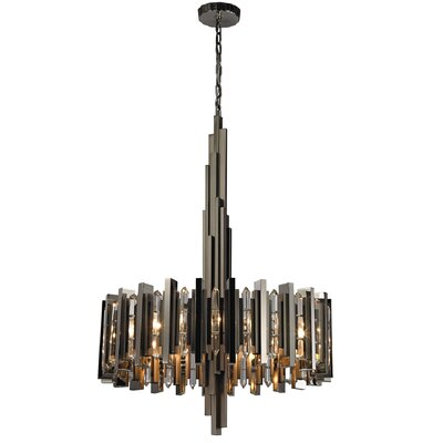 Aventurine 8-Light Drum Chandelier