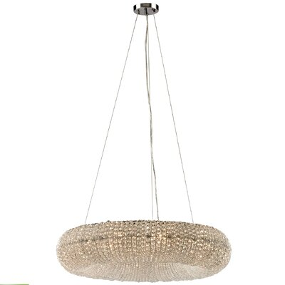 Zelie 10-Light Crystal Chandelier Bulb Type: 4.8W LED