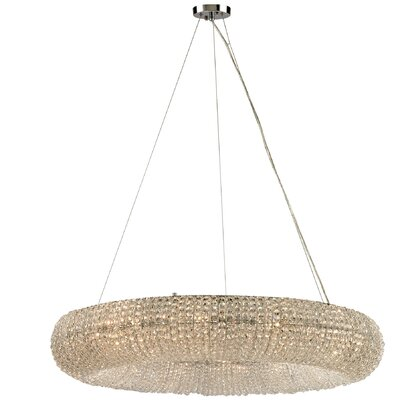 Daniels 12-Light Crystal Chandelier Bulb Type: 4.8W LED
