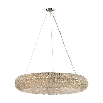 Daniels 12-Light Crystal Chandelier Bulb Type: 60W Incandescent