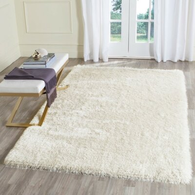 Marsha Hand-Tufted Ivory Area Rug Rug Size: Rectangle 3 x 5