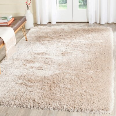 Darlene Hand-Tufted Taupe Area Rug Rug Size: Rectangle 4 x 6