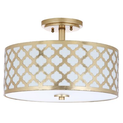Ilchester 3-Light Flush Mount Finish: Gold