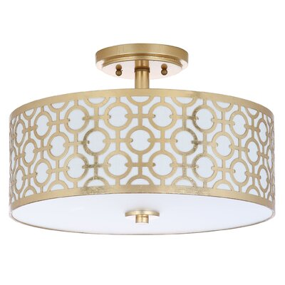 Bindy 3-Light Semi Flush Mount Finish: Gold