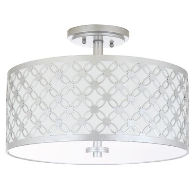 Ilkeston 3-Light Flush Mount Finish: Silver