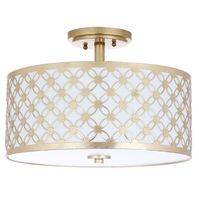 Nielsen 3-Light Flush Mount Finish: Gold