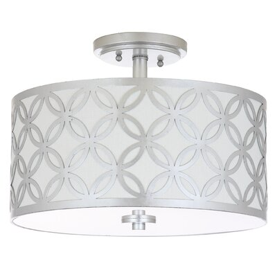 Ogden 3-Light Flush Mount Finish: Silver
