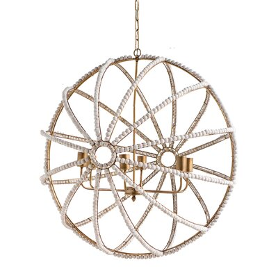 Jesseren 6-Light Globe Pendant Finish: White