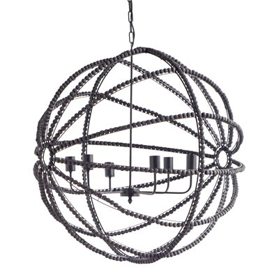 Jesseren 6-Light Globe Pendant Finish: Black