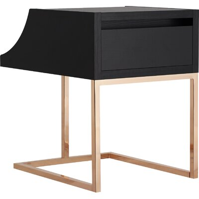 Hendrik End Table Color: Black
