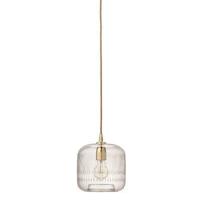 Durham 1-Light Mini Pendant Finish: Brass
