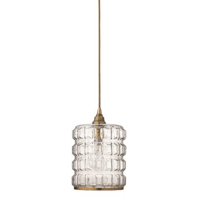 Beckham 1-Light Mini Pendant Finish: Antique Brass