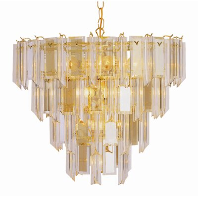 Emerald 13-Light Crystal Chandelier