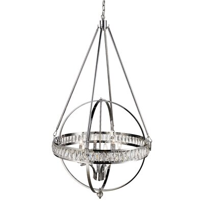 Charlize 6-Light Globe Pendant Finish: Polished Chrome