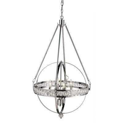 Charlize 4-Light Globe Pendant Finish: Polished Chrome