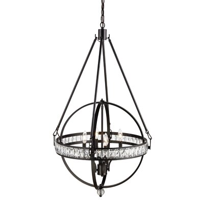 Charlize 4-Light Globe Pendant Finish: Rubbed Oil Bronze