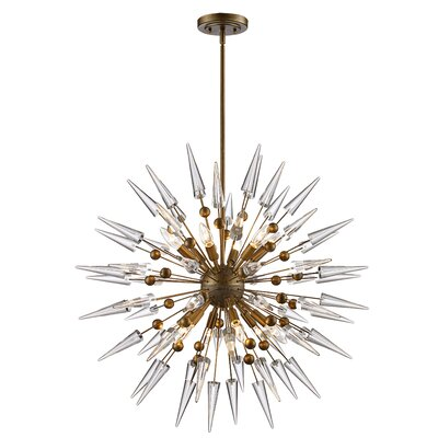 Gonnard Geometric Pendant Finish: Antique Gold