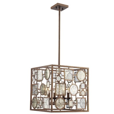 Belgrade 4-Light Foyer Pendant Finish: Antique Gold