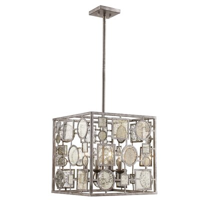 Belgrade 4-Light Foyer Pendant Finish: Antique Silver