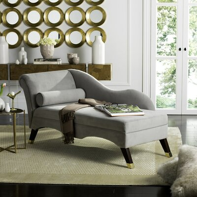 Melania Chaise Lounge Color: Grey