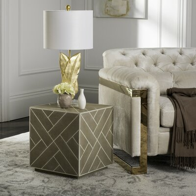 Bostic End Table Color: Beige