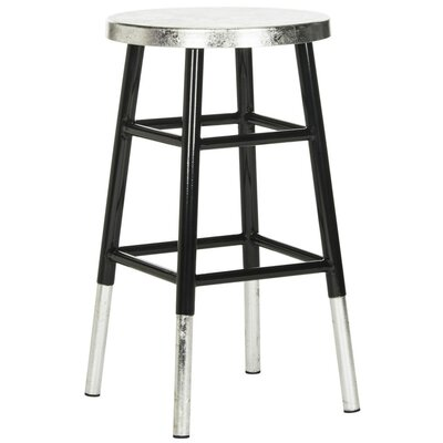 Torquay 24 Bar Stool Finish: Black/Silver