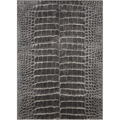 Ruthann Charcoal Area Rug Rug Size: Rectangle 93 x 129