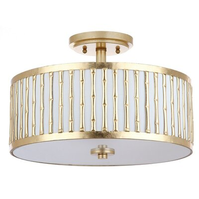 Perez 3-Light Semi Flush Mount