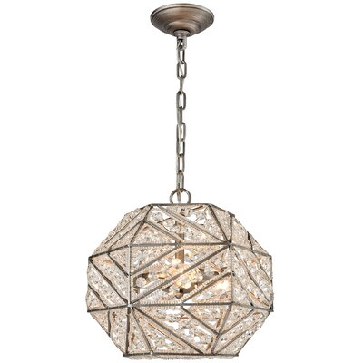 Swinton 3-Light Globe Pendant Bulb Type: 4.8W LED