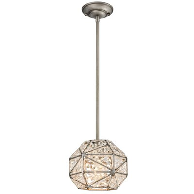 Swinton 1-Light Globe Pendant Bulb Type: 100W Incandescent
