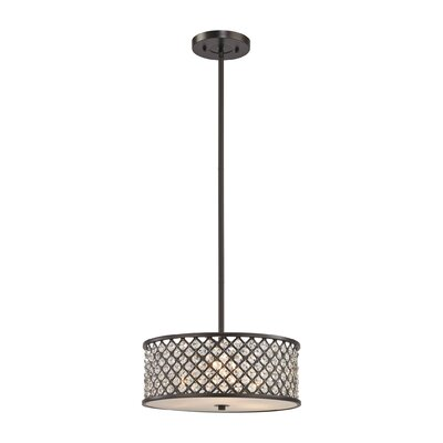 Barse 3-Light Drum Pendant