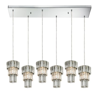 Glossop 6-Light Kitchen Island Pendant