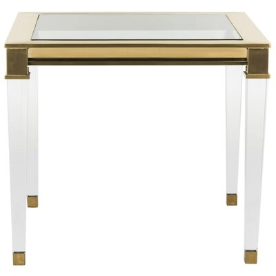 Florrie End Table Finish: Gold