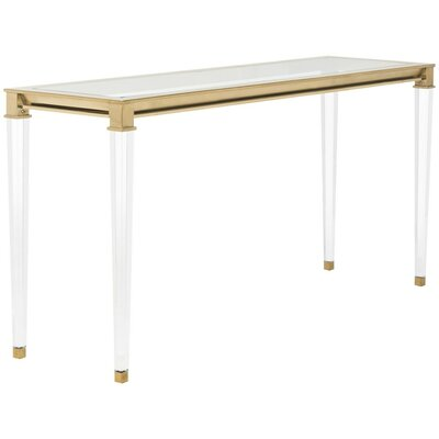 Raya Console Table Finish: Gold