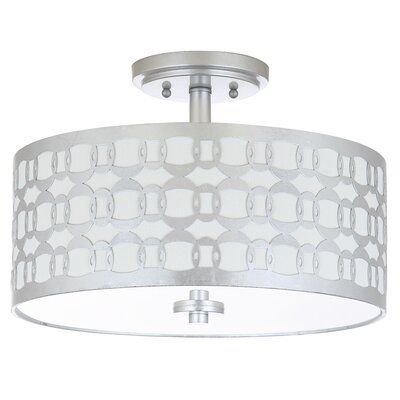 Grandidier 3-Light Semi Flush Mount Finish: Silver