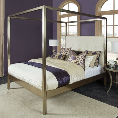 Chiara Upholstered Canopy Bed Size: King