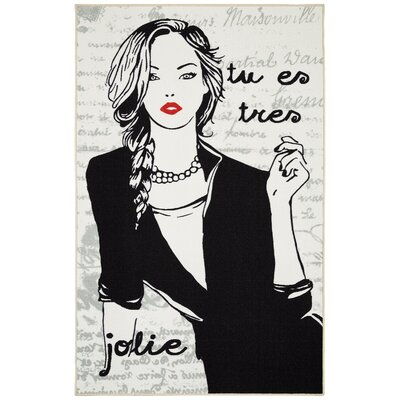 Gedan Jolie Mademoiselle Black & White Area Rug