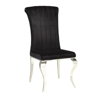 Geraldina Metal Upholstered Side Chair