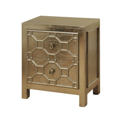 Jazzerus 2 Drawer Nightstand
